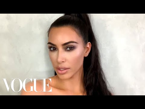 Kim Kardashian West's Guide To Viral Holiday Glam | Beauty Secrets | Vogue