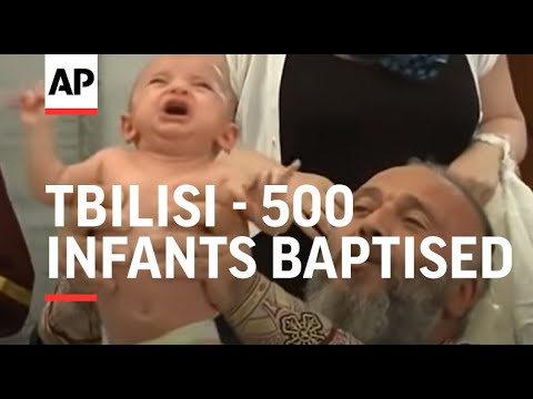 500 infants baptised in mass Orthodox ceremony