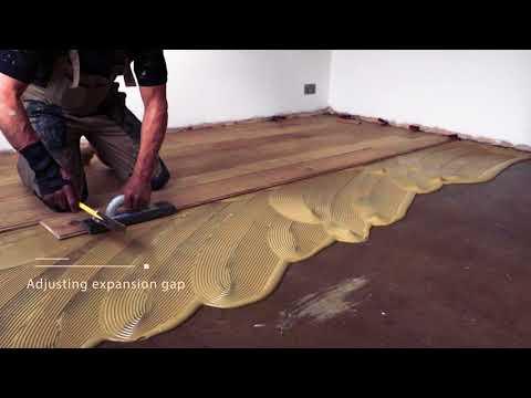 Fitting Glue Down Wood Flooring