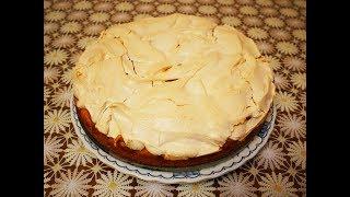 ПИРОГ с ГРУШАМИ и БЕЗЕ рецепт пирога ГРУШЕВЫЙ ПИРОГ пироги рецепты простые Готовим с любовью