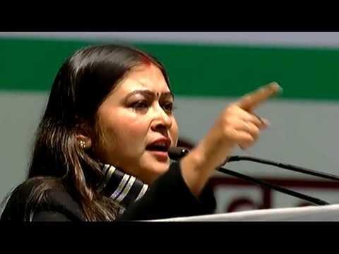 Ragini Nayak At AICC Session, Talkatora Stadium, New Delhi