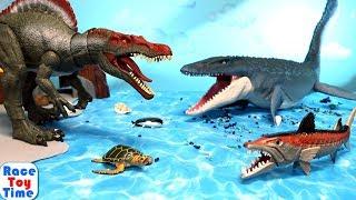 Jurassic World Mosasaurus - Fun Dinosaurs Tyrannosaurus Spinosaurus Toys For Kids
