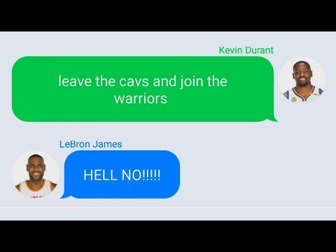 Kevin Durant Texting LeBron James To Join Warriors