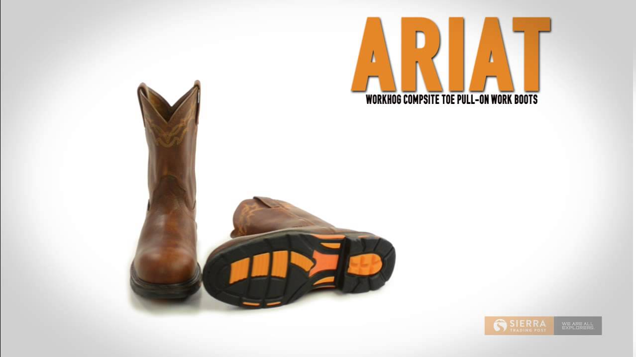 Ariat Workhog Pull-On Work Boots - Composite Toe (For Men) - YouTube