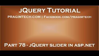jQuery slider in ASP.NET