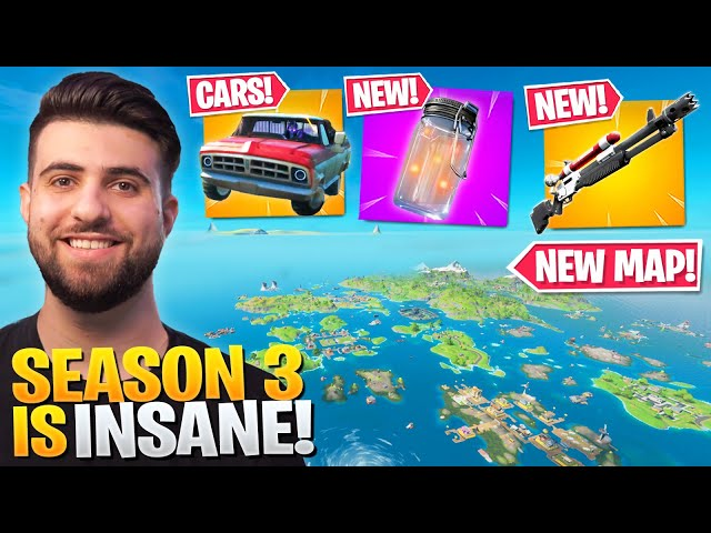 Everything Epic Didn T Tell You In The Season 3 Update New Map Cars More Fortnite