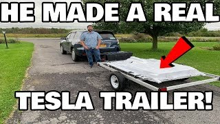 The True DIY Tesla Range Extending battery Trailer
