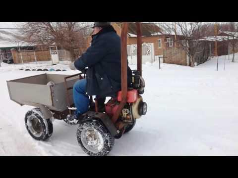Ходовые испытания. Минитрактор из мотоблока Нева. / Homemade garden tractor Часть 9