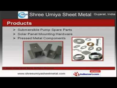 Pump Component, Parts & Fabrication Services By Shree Umiya Sheet Metal, Gujarat