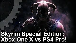 [4K] Skyrim Special Edition: Xbox One X vs PS4 Pro - How Big Is The Upgrade?