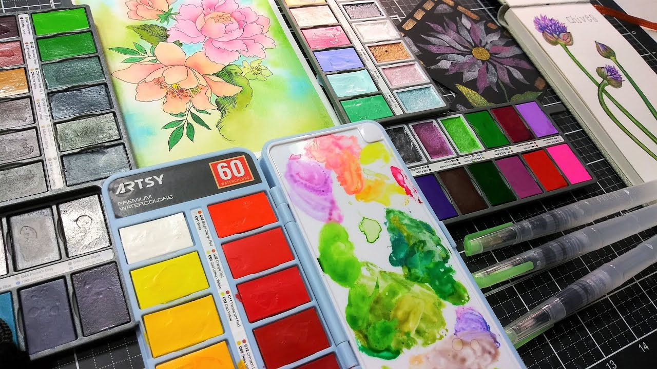 """Artsy """"Cell Phone"""" Watercolor Palette Review"""