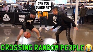 Crossing Random People at a NBA GAME!