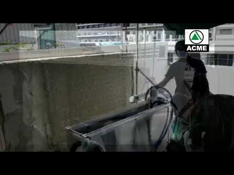 Automatic Plastering Robot With Acme Equipment