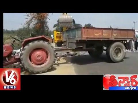 Tractor Accident In Medak District | Tractor Falls Into Well | Teenmaar News
