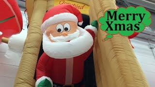 Walmart Christmas Inflatables Animated Airblown Santa Coming Out of Outhouse Scene 6