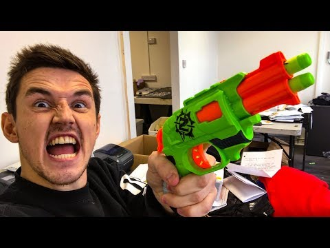 NERF TRICK SHOTS / OFFICE EDITION!