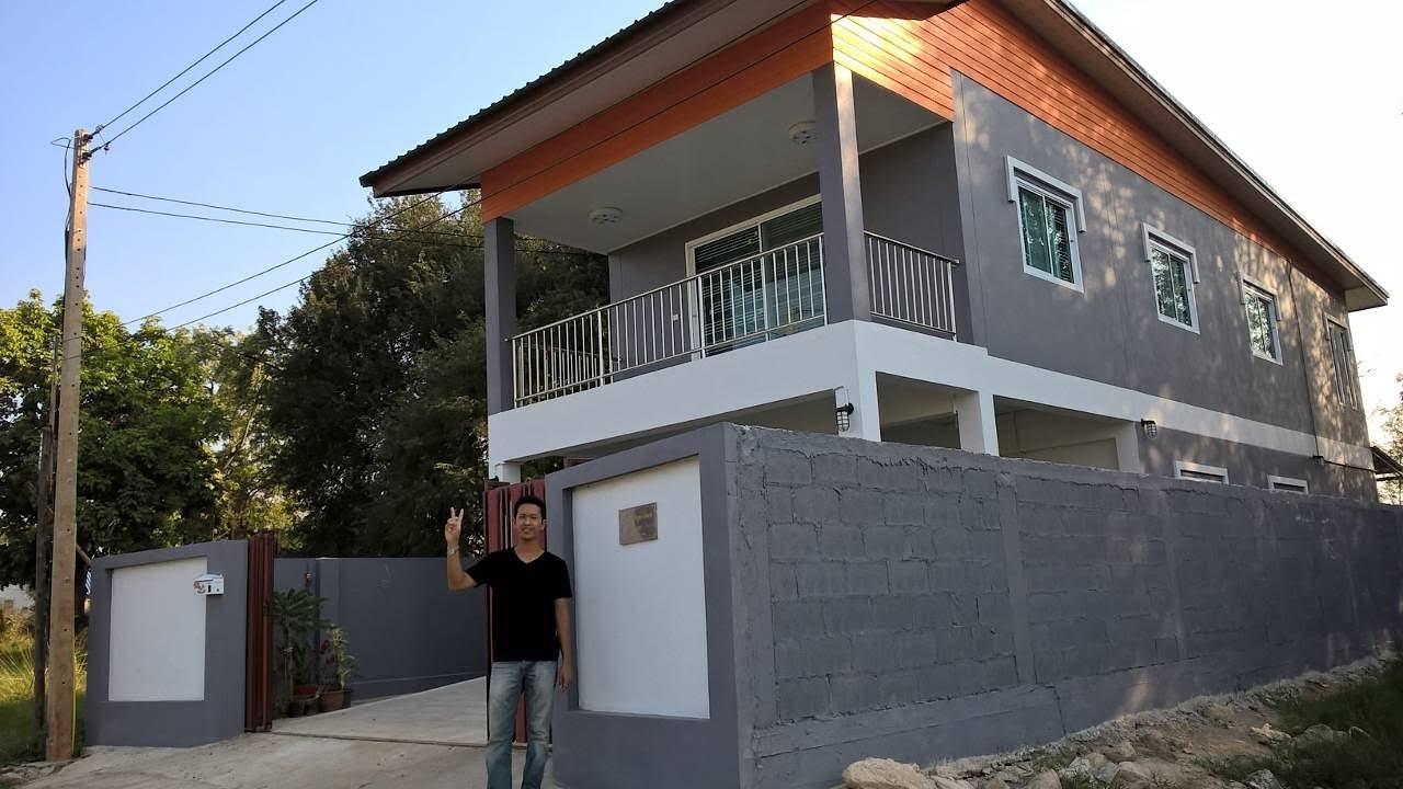 บ้านหลังแรกในฝัน  ตั้งแต่ซื้อที่ดินจนสร้างเสร็จ ที่ดิน 50 ตรว. (หน้าแคบ) พื้นที่ใช้สอย 160 ตรม.