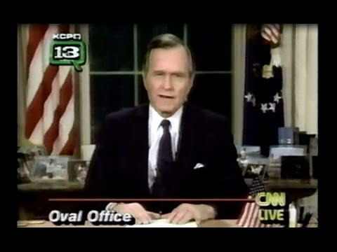 George HW Bush Address Announcing Start of First Gulf War - Jan. 16, 1991