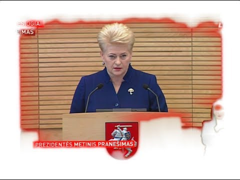 Lietuvos Respublikos Prezidentės Dalios Grybauskaitės metinis pranešimas (2017) HD