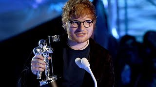fans furious that ed sheeran won mtv vma artist of the year over ariana grande
