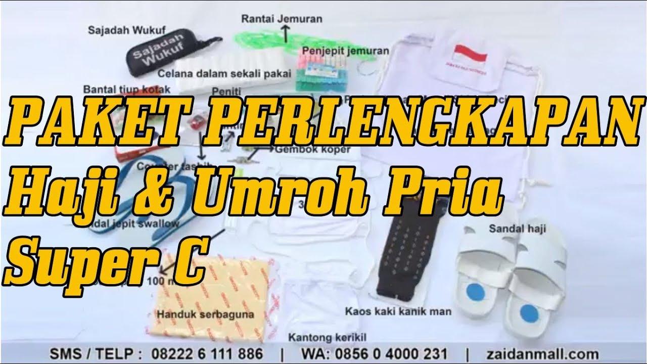 Paket Perlengkapan Haji Dan Umroh Pria Super C Youtube Kaos Umrah Lengan Pendek Exclusive