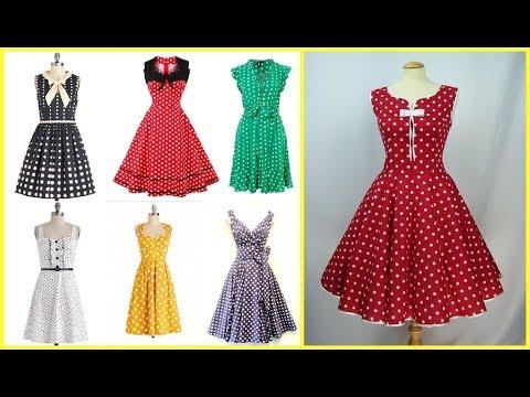 vintage style polka dot dress=50s style polka dot dresses for women