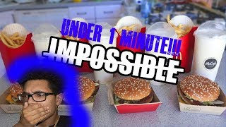 Eating A Grand Big Mac MEAL In Under 1 Minute.... REACTION!! (WILD ASF!)