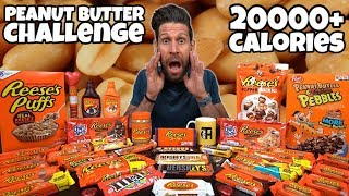 PEANUT BUTTER CHALLENGE (20000 Calorie) - Cheat day - MAN VS FOOD