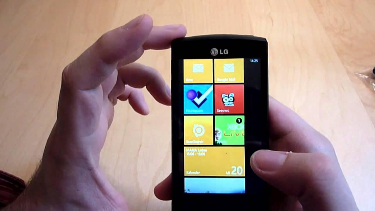 Review: LG E900 OPTIMUS 7 mit Windows Phone 7