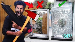 destroying-100-unbreakable-objects-using-liquid-nitrogen-real-bank-ballistic-glass-window