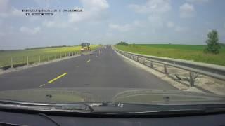 "Трасса ""Тула-Калуга"" , аварийная ситуация на участке ремонта дороги"