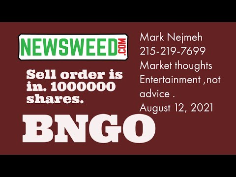 BNGO $BNGO Bionano Genomics August 13, 2021