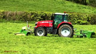 Going Mowing - NEW MF 7618 plus Krone Fore and Side Mowers.