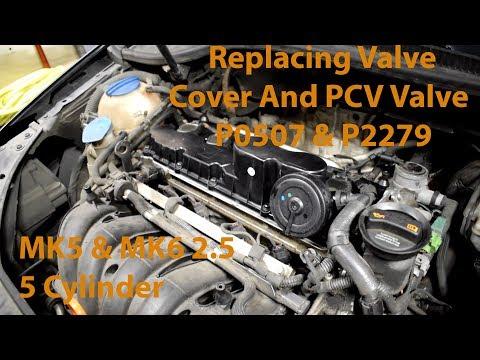 Replacing a Valve Cover on VW 2.5L 5 Cylinder Engine (PCV Valve Built In)