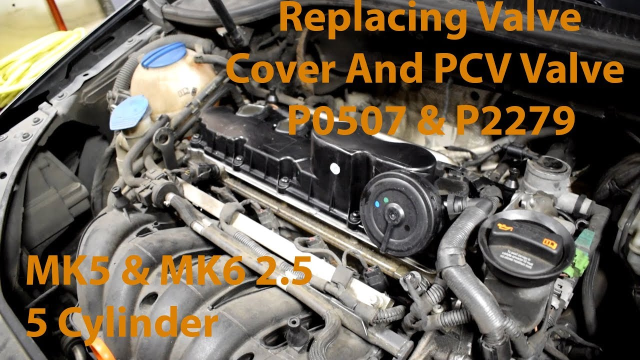 Replacing a Valve Cover on VW 2.5L 5 Cylinder Engine (PCV Valve Built In) -  YouTubeYouTube