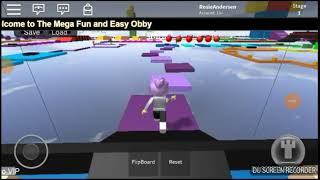 Rosie plays roblox mega fun and easy obby/grounded