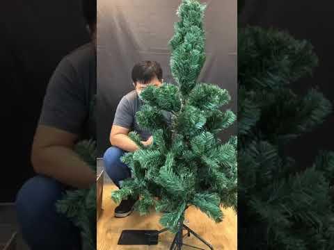[六分埔禮品]  5尺頂級PVC圓頭聖誕樹 (鐵腳)