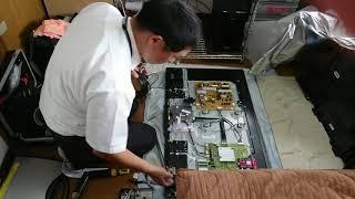 Sony BRAVIA KJ-43X8300D 液晶テレビ  液晶パネル交換作業の様子 後編  (新品パネル交換、動作確認) 液晶テレビ 検索動画 16