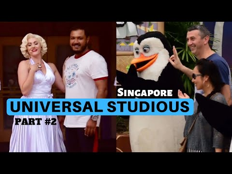 UNIVERSAL STUDIOS SINGAPORE Globe | part 2 | MARILYN MONROE DANCE | PENGUINS OF MADAGASCAR |
