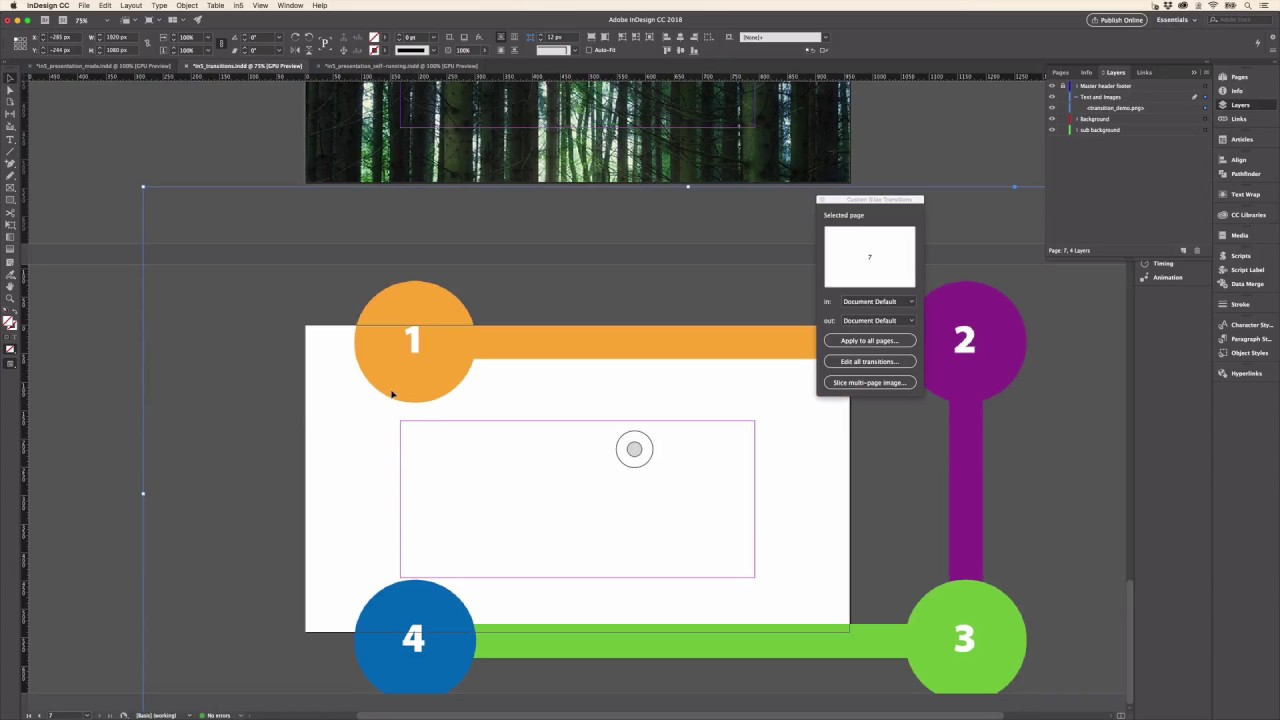 Create Awesome Slides from InDesign using in5's Presentation Mode