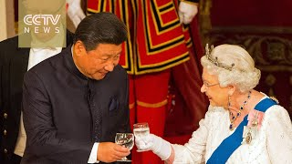 FULL VIDEO: President Xi attends state banquet held by the Queen at Buckingham Palace