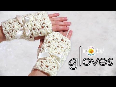 Bridal Fingerless Gloves Crochet Pattern & Tutorial