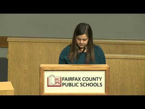 FCPS School Board Public Hearing: FY17 Budget - January 28, 2016