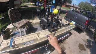 Pelican Raider Boat NEW Tilt Trailer Launch and  Load
