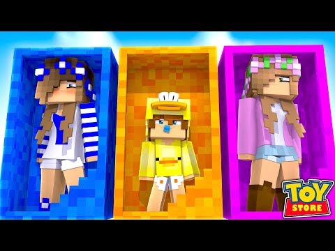 BABY DUCK COMES ALIVE IN THE TOYSTORE! w/Little Carly (Minecraft Toystore).