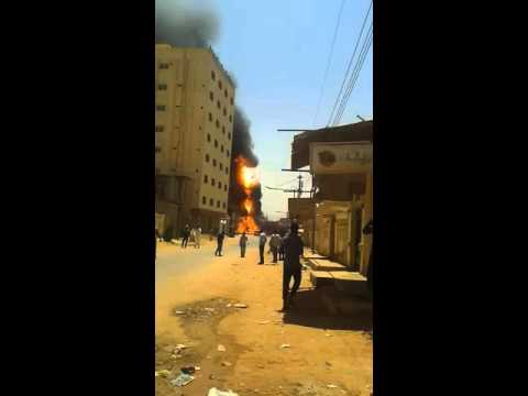 Gas tanker explosion in Omdurman sudan