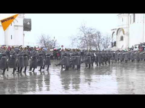 Kremlin Guard Presidential Regiment Parade