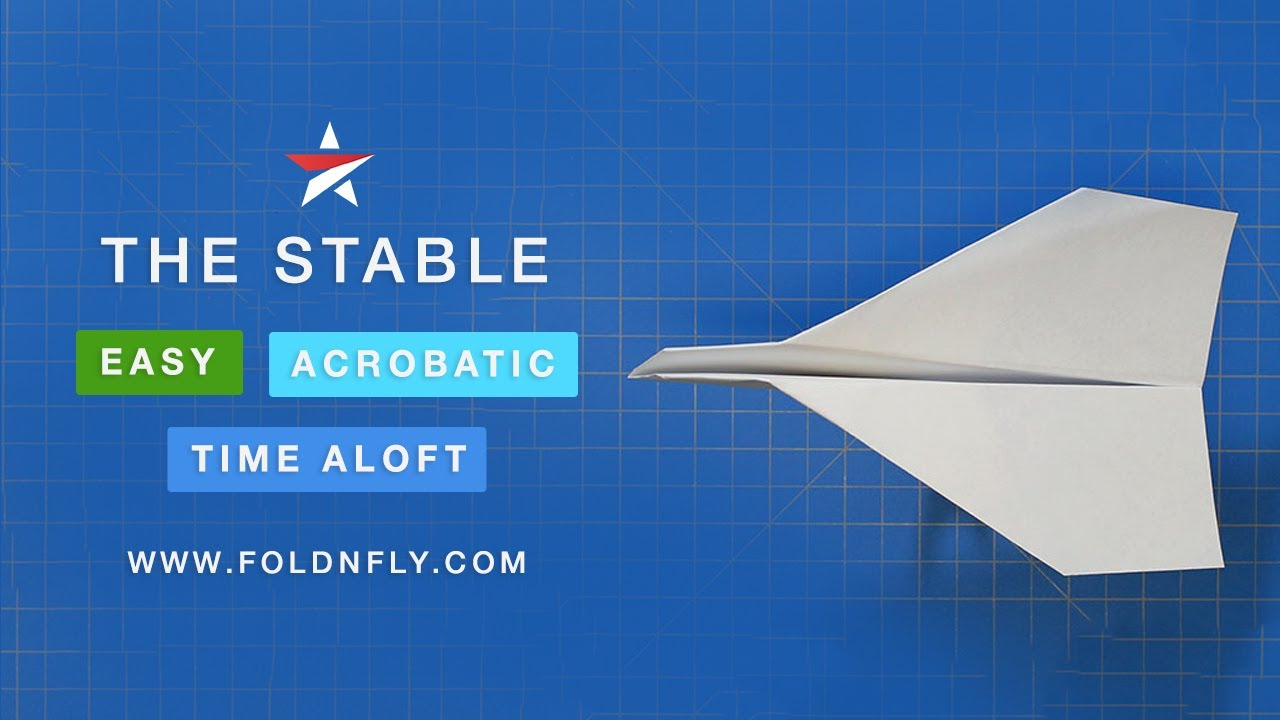 The Stable Paper Airplane That Flies Far And Does Flips