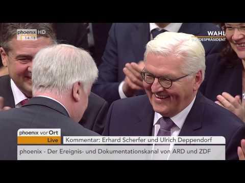 Ergebnis des Wahlgangs zum 12. Bundespräsidenten: Rede von Frank-Walter Steinmeier am 12.02.2017