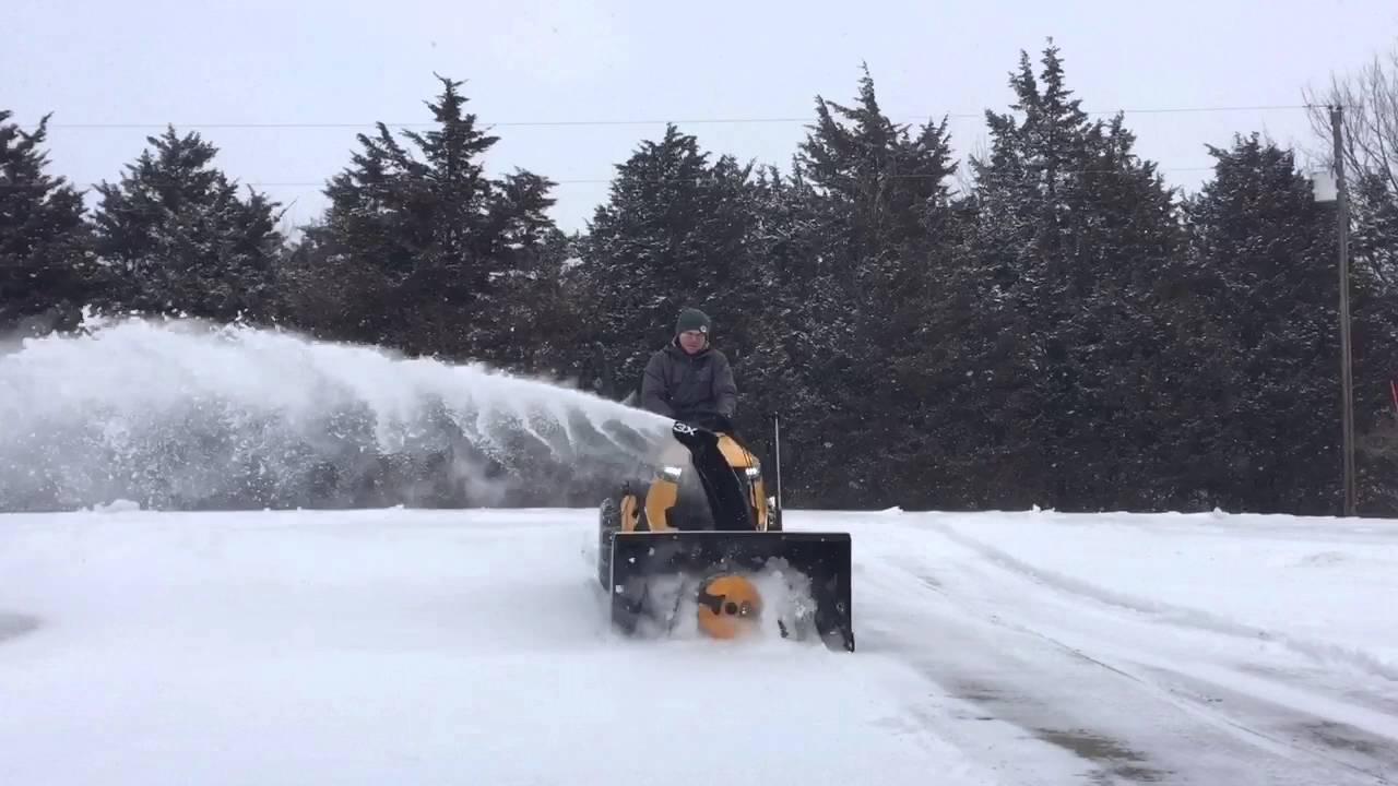 Cub Cadet Xt1 Gt50 With 3x Snowblower Attachment Youtube